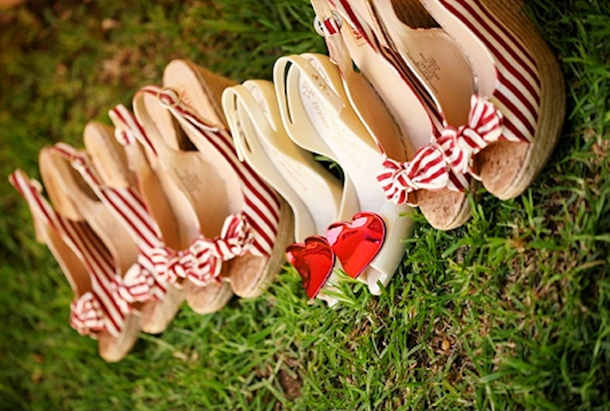 bride-and-bridesmaids-wedge-shoes