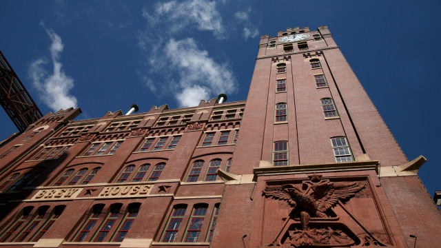 ST. LOUIS, MO - JULY 14: The brewhouse for Anheuser-Busch Cos. is seen July 14, 2008 in St. Louis, Missouri. Anheuser-Busch Cos. Inc.'s board of directors voted Sunday to accept Belgian brewer InBev's takeover offer of $52 billion. (Photo by Whitney Curtis/Getty Images)