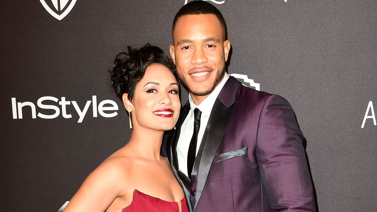 BEVERLY HILLS, CA - JANUARY 10: Actors Grace Gealey and Trai Byers attend InStyle and Warner Bros. 73rd Annual Golden Globe Awards Post-Party at The Beverly Hilton Hotel on January 10, 2016 in Beverly Hills, California. (Photo by Frazer Harrison/Getty Images)